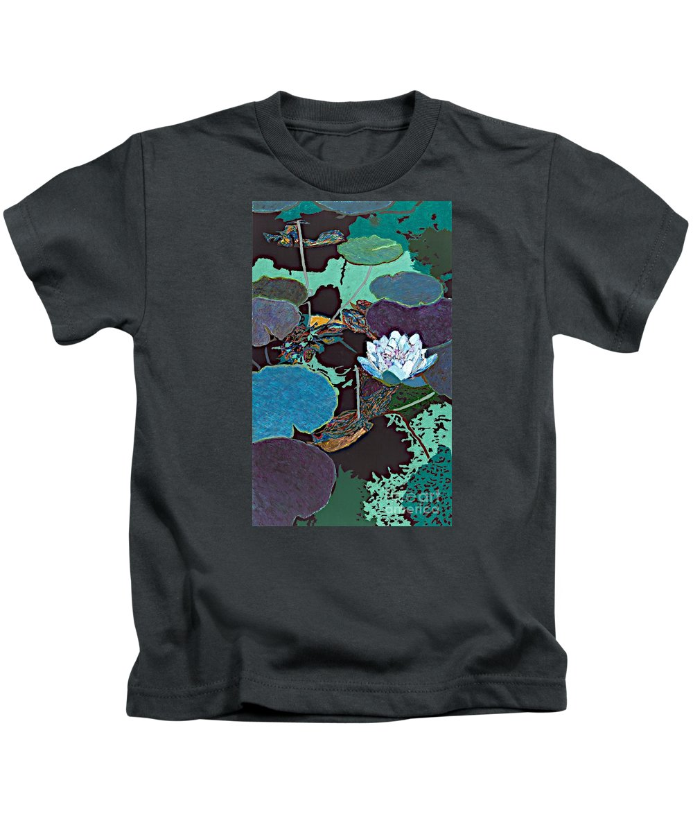 Landscape Kids T-Shirt featuring the painting Midnight Moonglow by Allan P Friedlander
