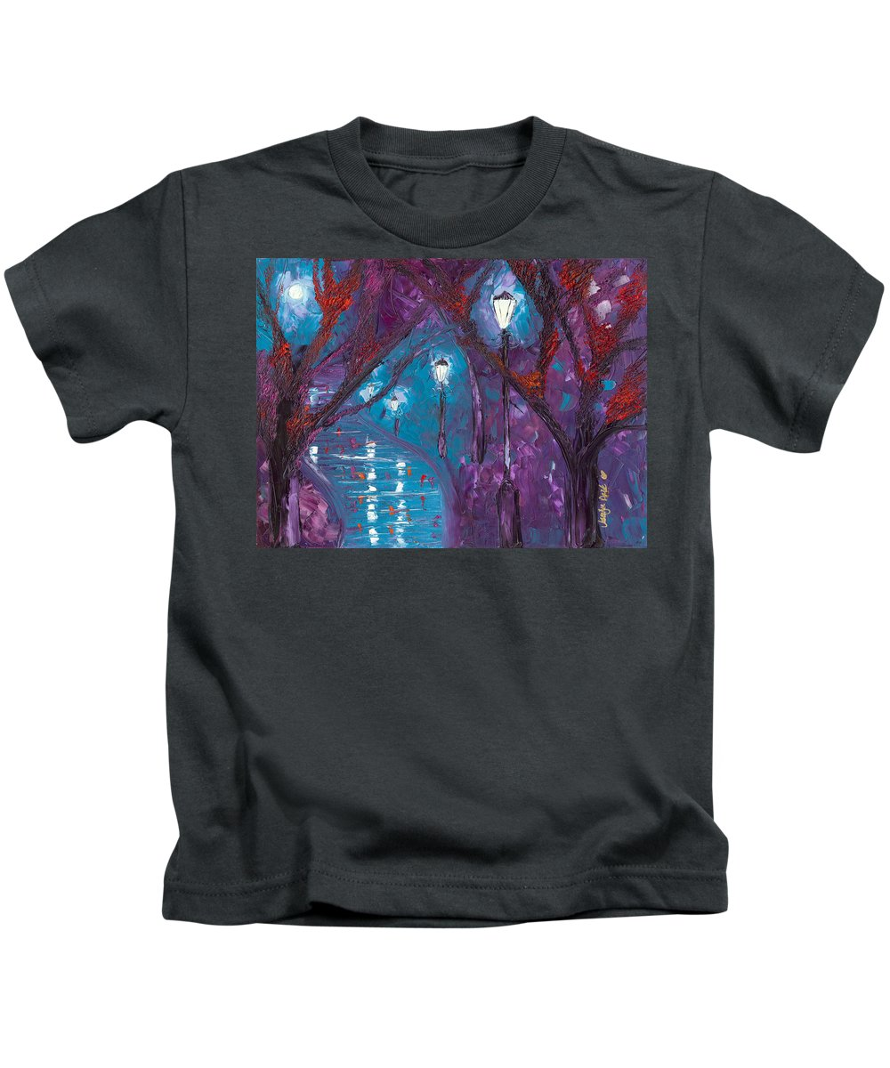 Night Kids T-Shirt featuring the painting Midnight Soliloquy by Jessilyn Park
