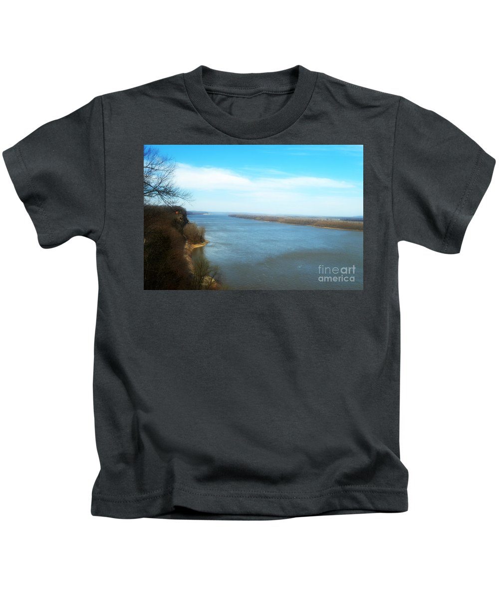 Mississippi River Kids T-Shirt featuring the photograph Mississippi Overlook Trail Of Tears by Peggy Franz