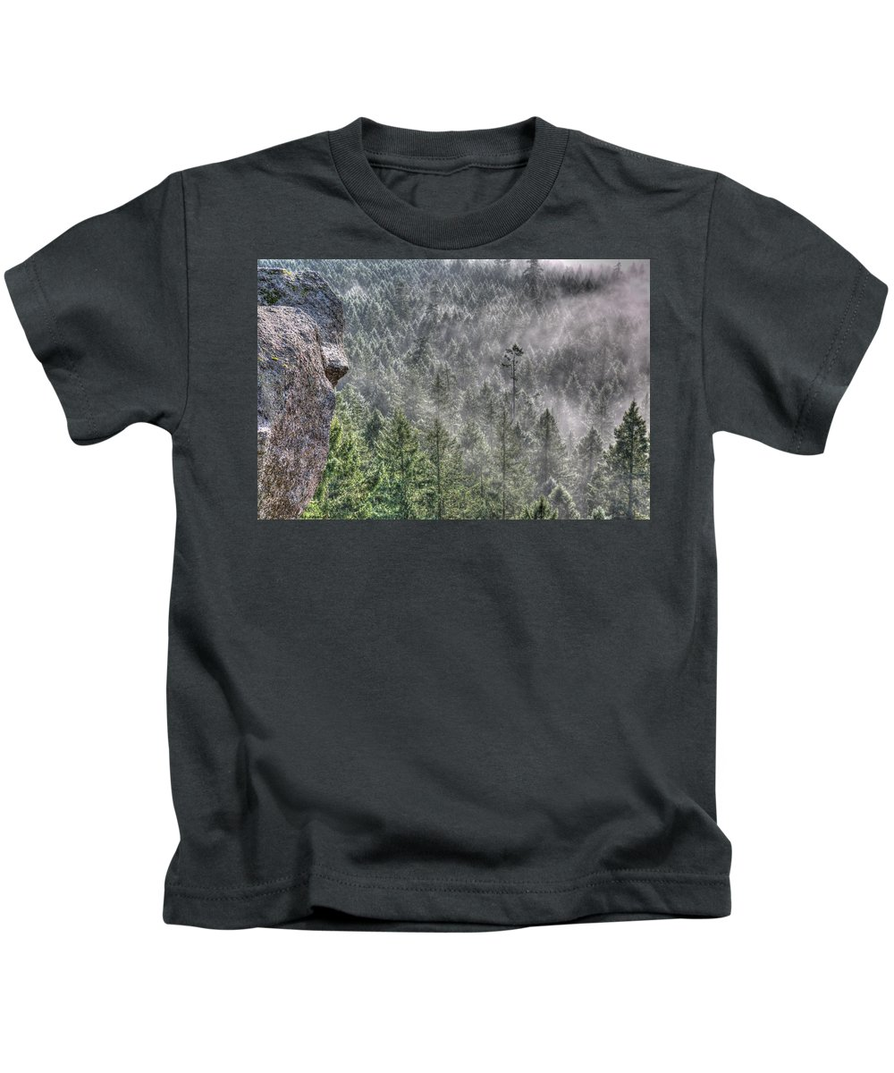 Mist Kids T-Shirt featuring the photograph Mistique by Randy Hall