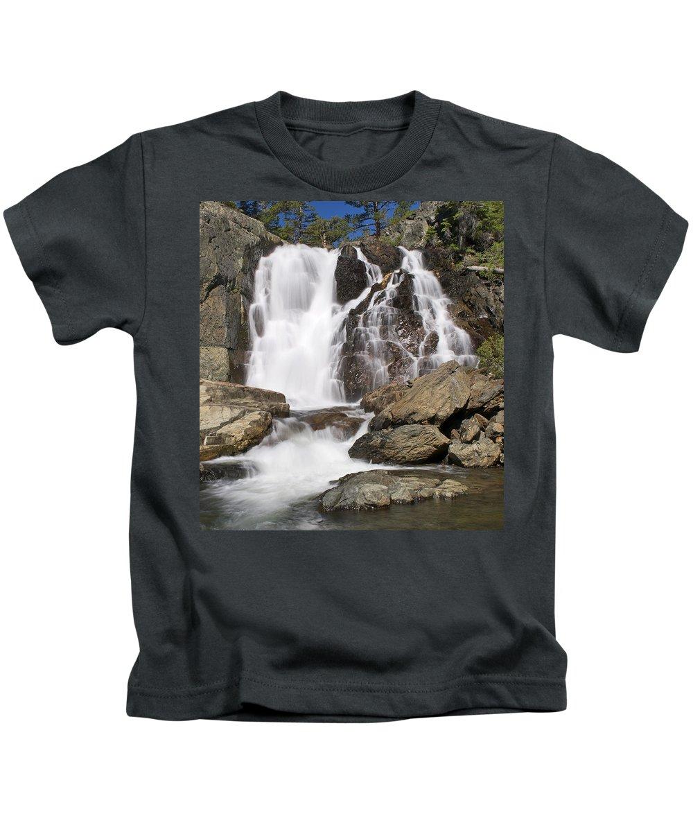 Waterfall Kids T-Shirt featuring the photograph Modjesku Falls by Paul Riedinger