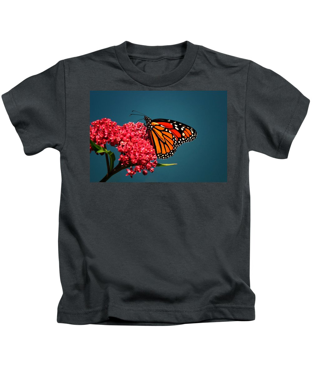 Butterfly Kids T-Shirt featuring the photograph Monarch by John Absher
