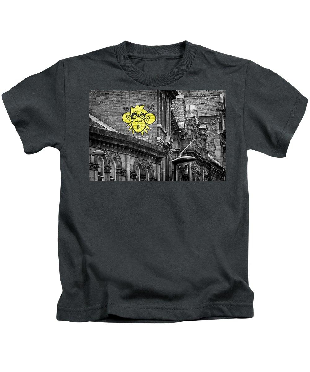 Monkey Kids T-Shirt featuring the photograph Monkey by David Pringle