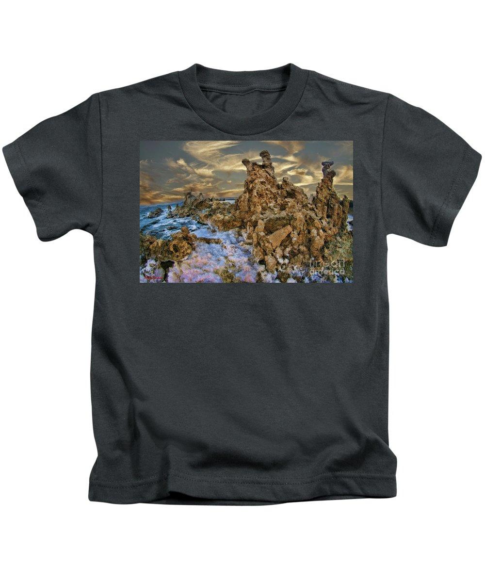 Mono Lake Kids T-Shirt featuring the photograph Mono Lake Tufa Reef by Blake Richards