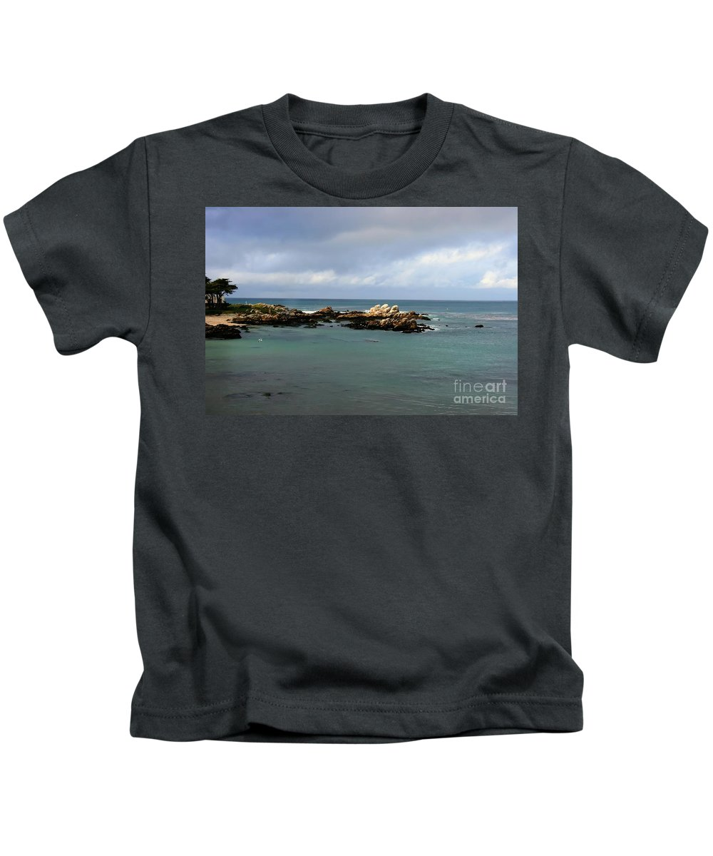 Coastal Photos Kids T-Shirt featuring the photograph Monterey Bay by Tap On Photo