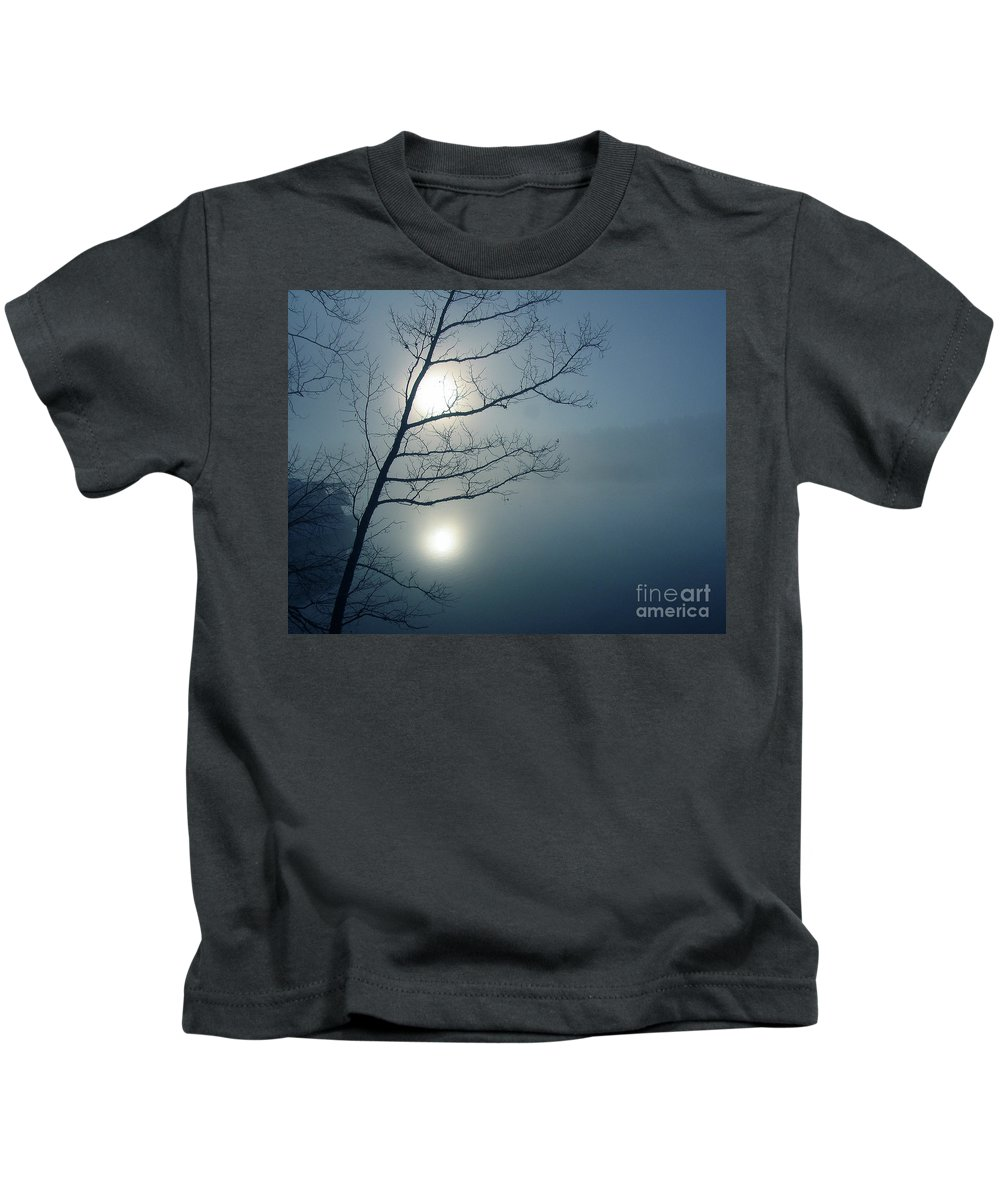 Tree Kids T-Shirt featuring the photograph Moody Blue by Douglas Stucky