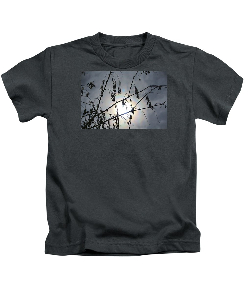 Moon Kids T-Shirt featuring the photograph Moon Silhouette by Kevin F Cook