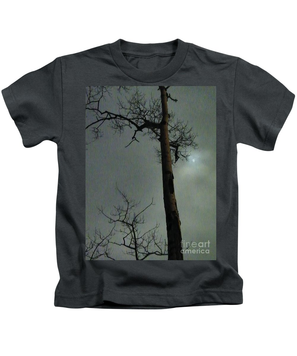 N Kids T-Shirt featuring the photograph Moonlit Marks On A Ground Glass Canvas by Brian Boyle