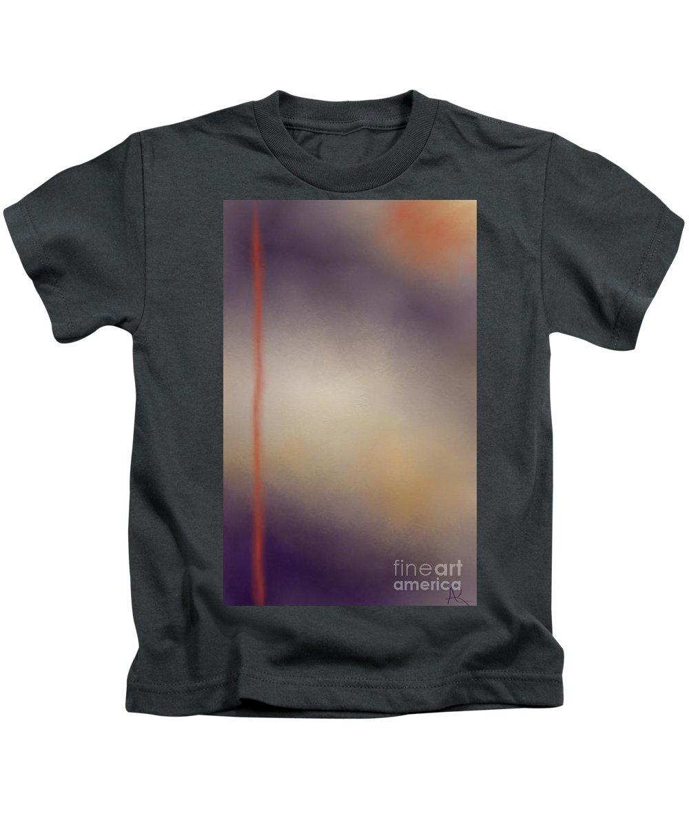 Artrage Kids T-Shirt featuring the painting Moonlit Night by Anita Lewis