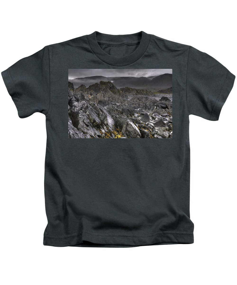 Hdr Kids T-Shirt featuring the photograph Moonscape by Heiko Koehrer-Wagner