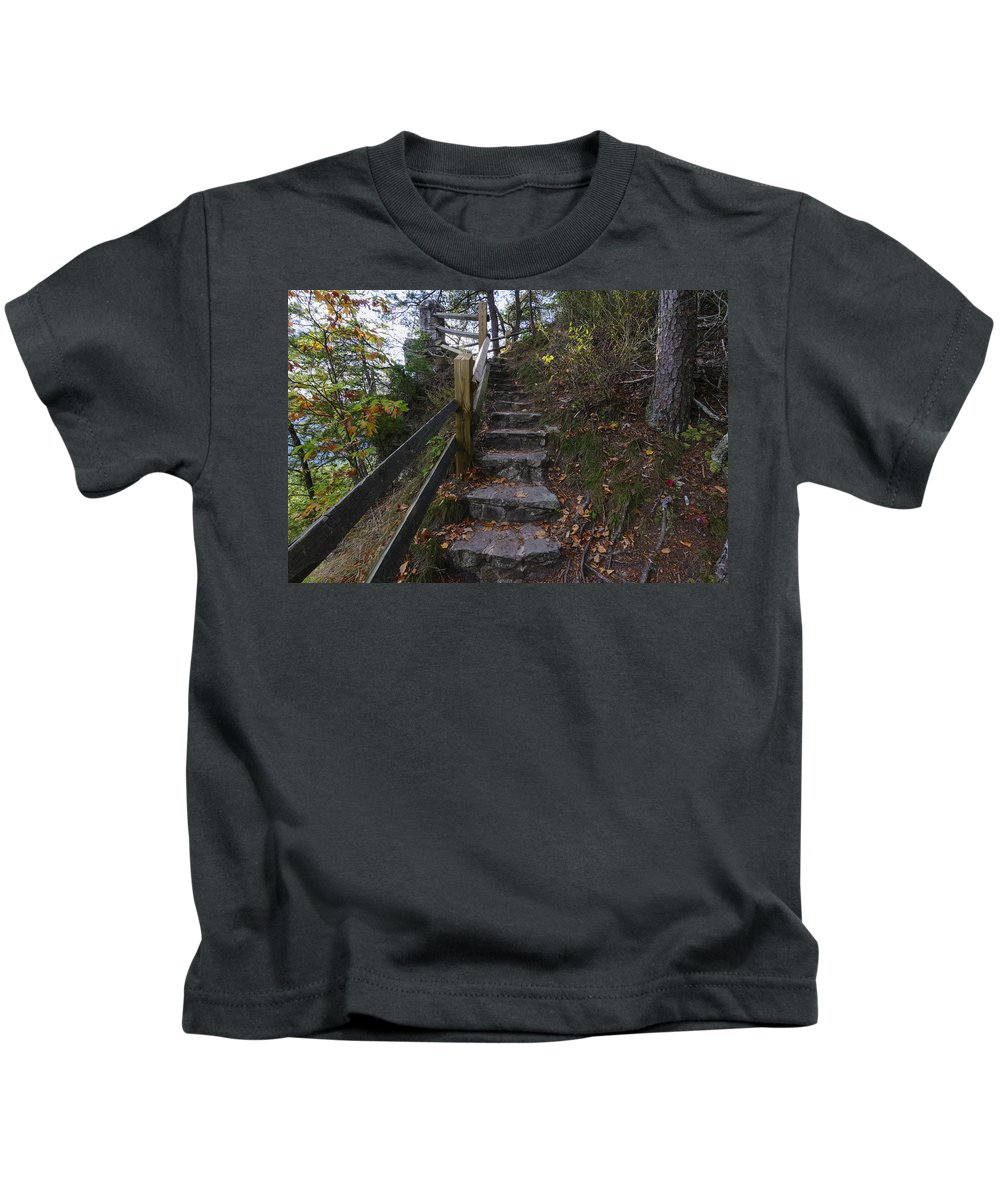 Autumn Kids T-Shirt featuring the photograph More Stairs by Steve Samples