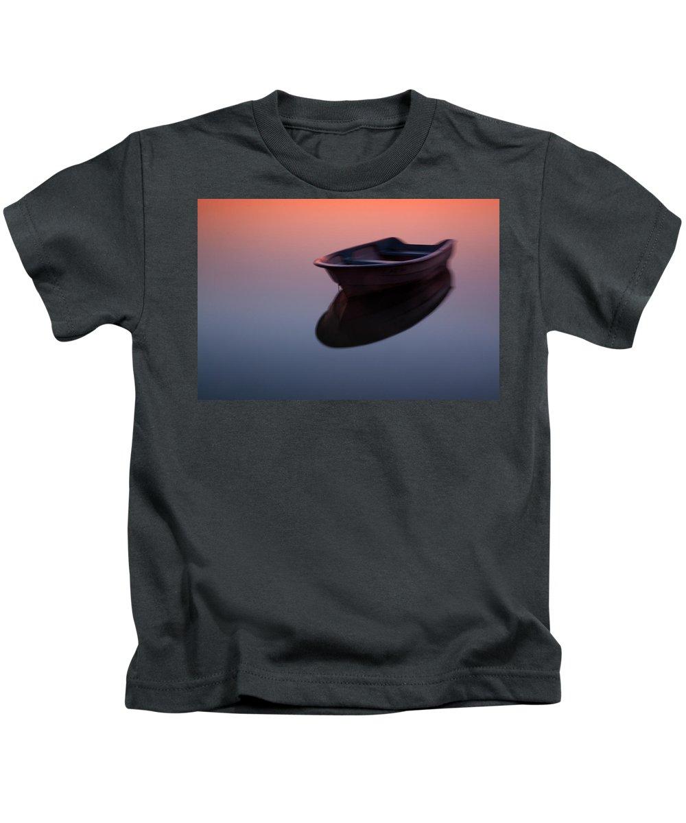 Lake Kids T-Shirt featuring the photograph Morning At Lake by Davorin Mance