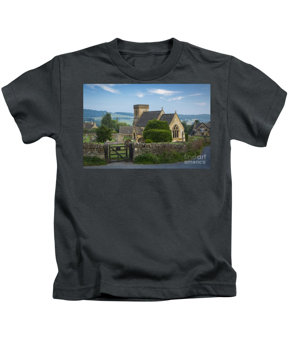 Barnabas Kids T-Shirt featuring the photograph Morning In Snowshill by Brian Jannsen