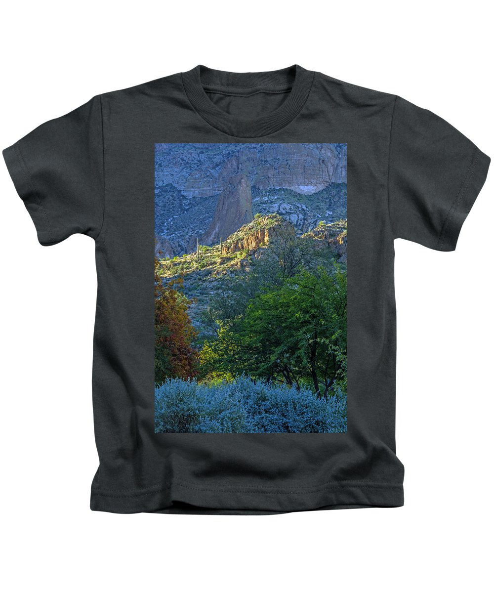 Landscape Kids T-Shirt featuring the photograph Morning Light by Tam Ryan
