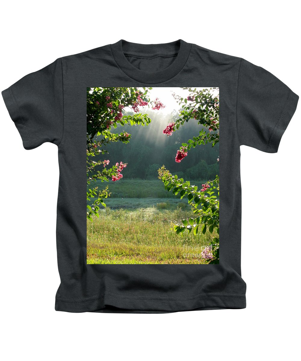 Crape Myrtle Kids T-Shirt featuring the photograph Morning Marsh by Carol Groenen
