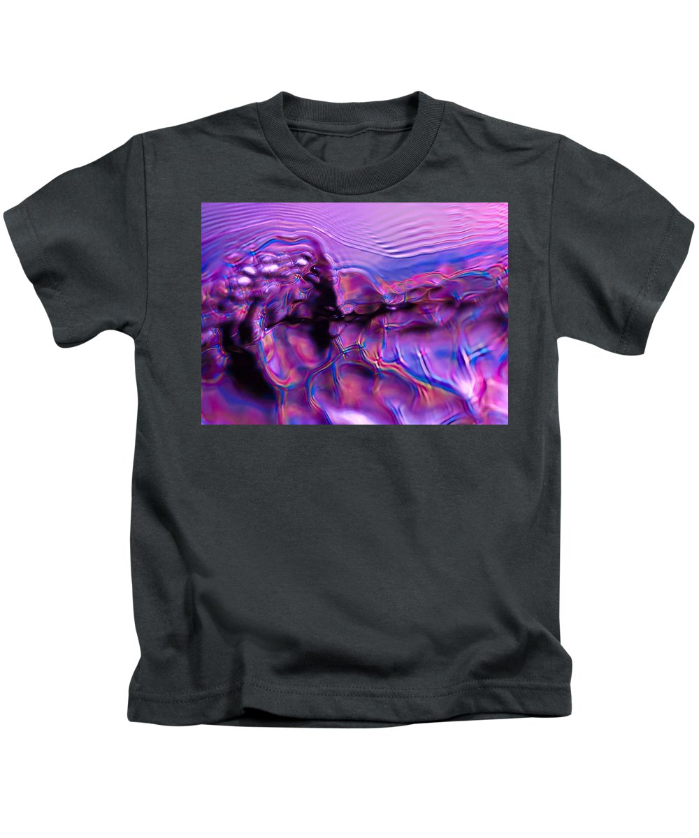 Abstract Kids T-Shirt featuring the photograph Mount Purple by Anthony Sacco