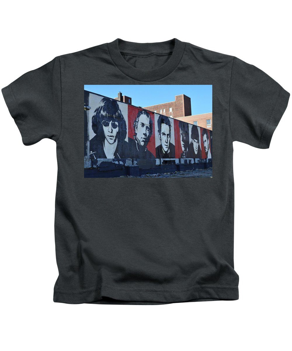 Shepard Fairey Kids T-Shirt featuring the photograph Mount Rush Core  by Allen Beatty