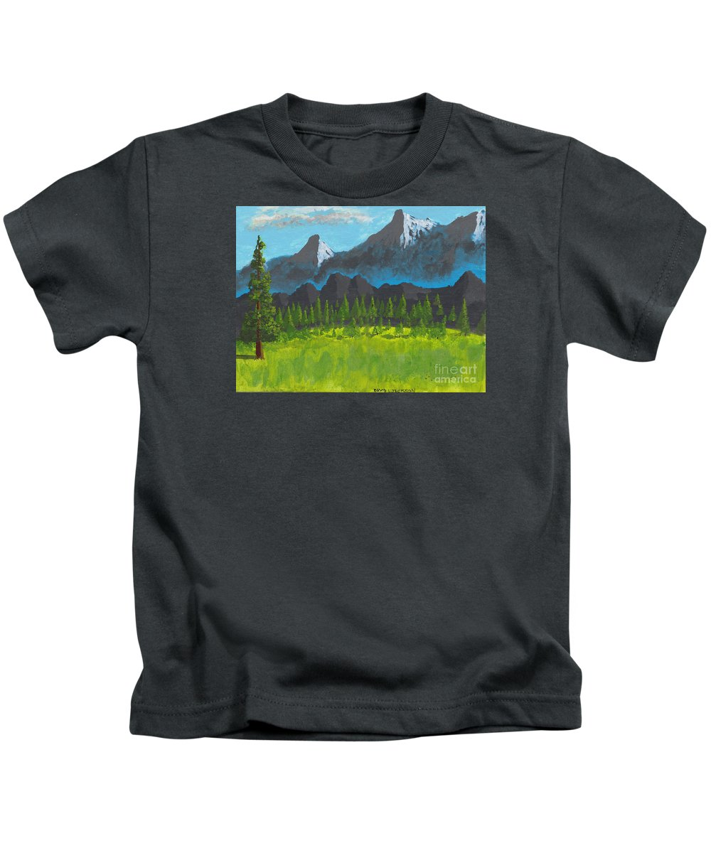 Acrylic Kids T-Shirt featuring the painting Mountain Vista by David Jackson