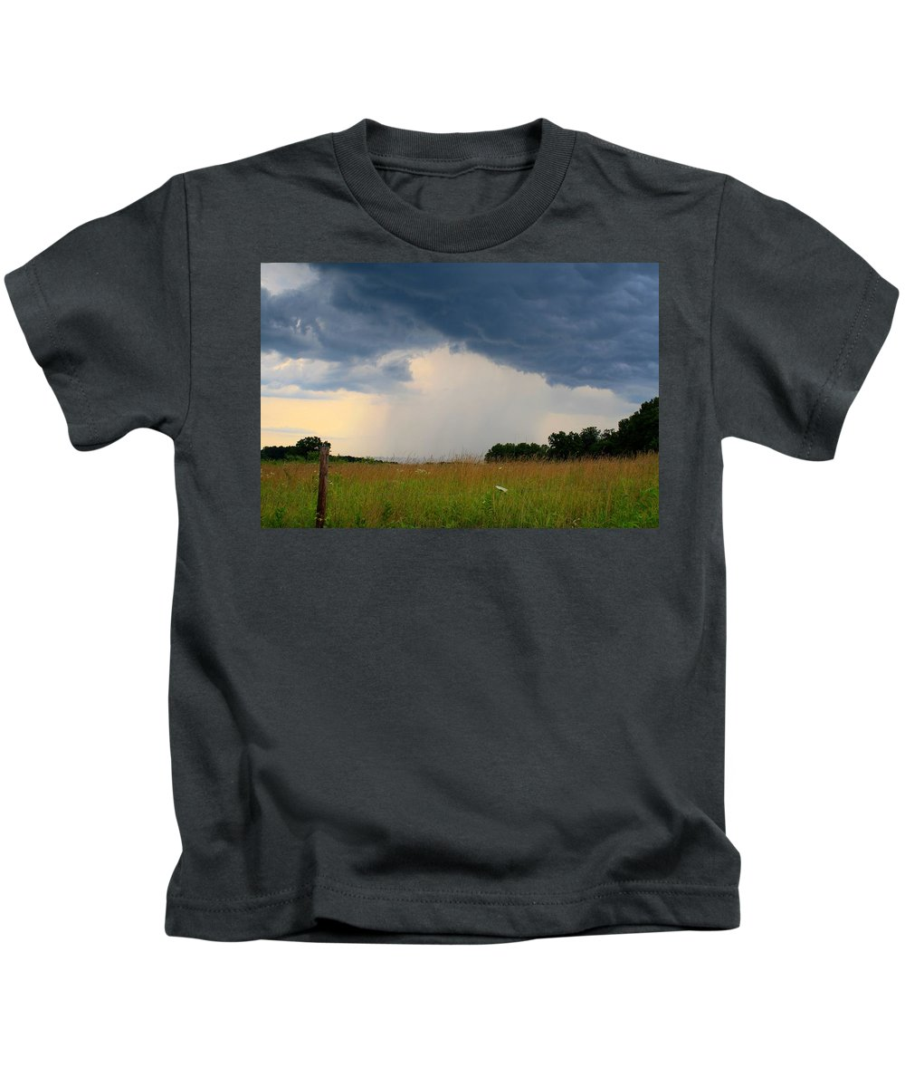 Storm Kids T-Shirt featuring the photograph Mouth Of The Storm by Kathryn Meyer