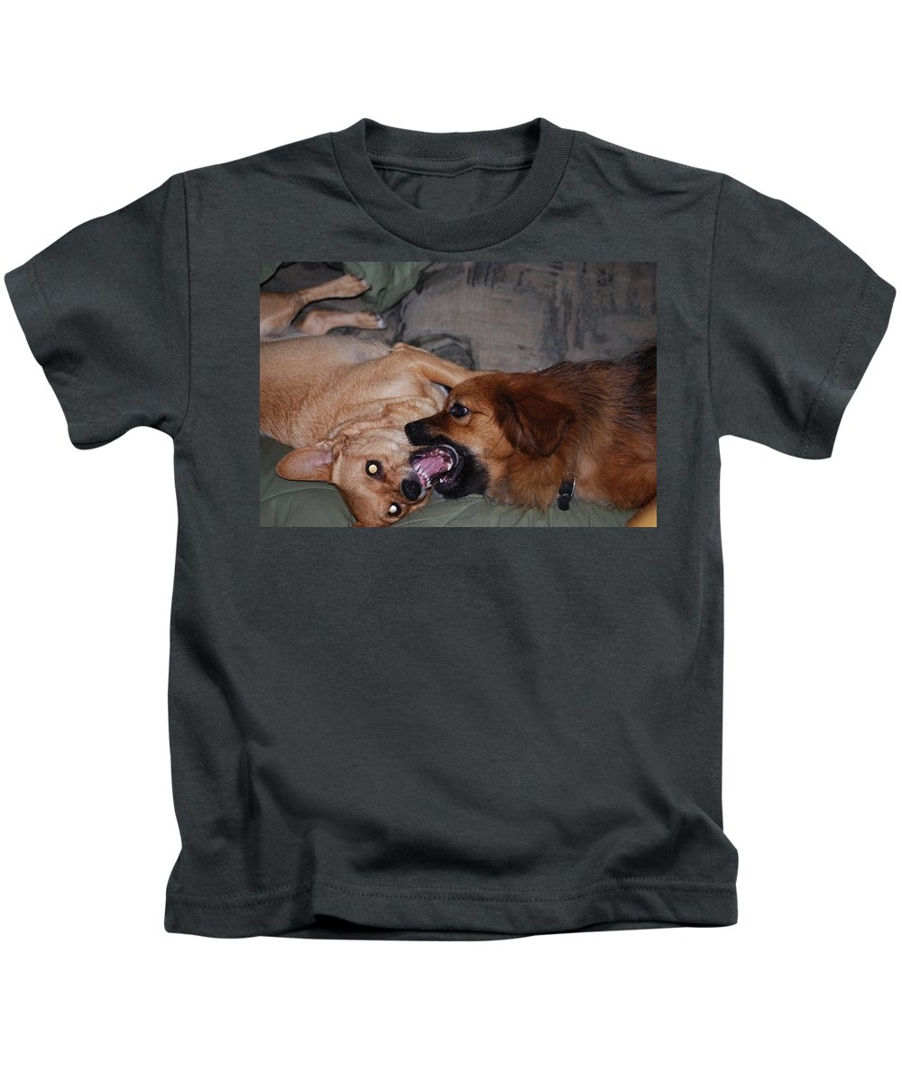 Play Time Kids T-Shirt featuring the photograph Mouth To Mouth by Robert Floyd