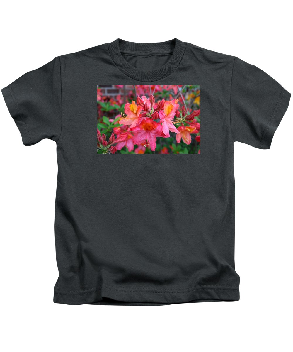 Azalea Kids T-Shirt featuring the photograph Mt St Helens Azalea by Kathryn Meyer