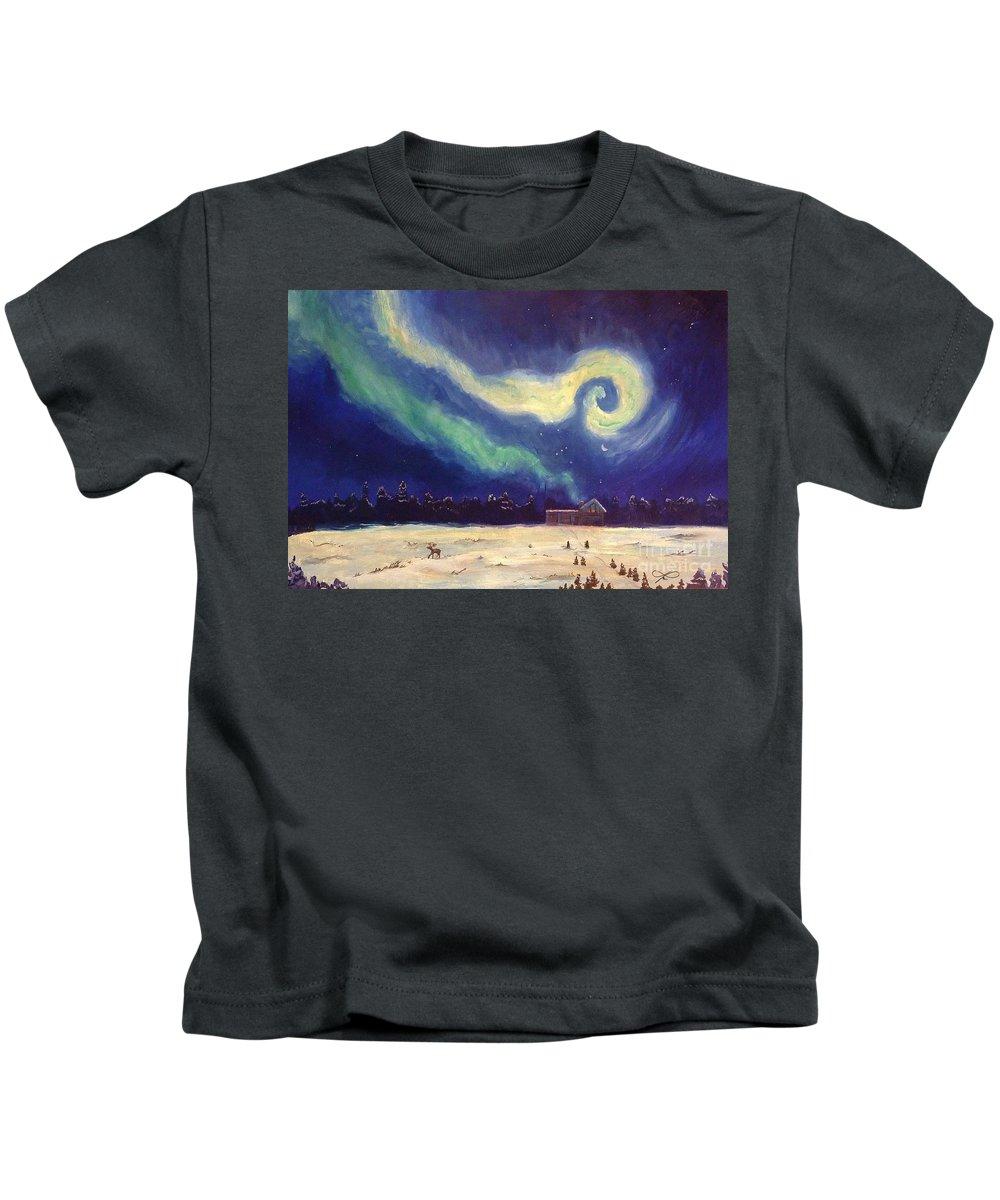 Regina Gallant Kids T-Shirt featuring the drawing My Jack by Regina Marie Gallant