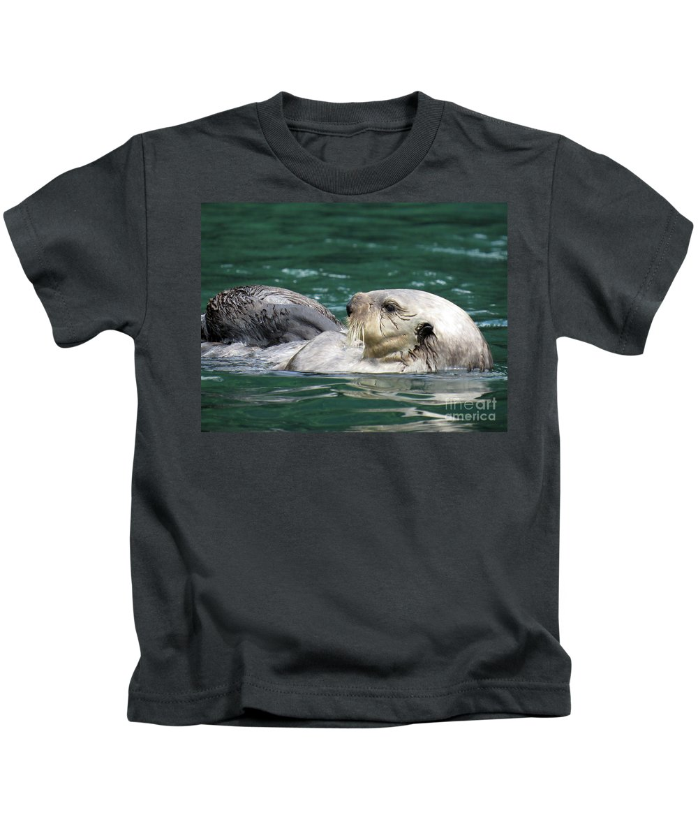 Otter Kids T-Shirt featuring the photograph My Otter II by Stacey May