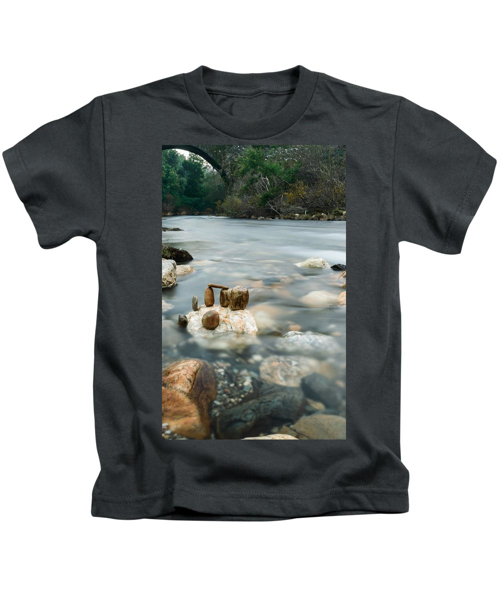 River Kids T-Shirt featuring the photograph Mystic River II by Marco Oliveira