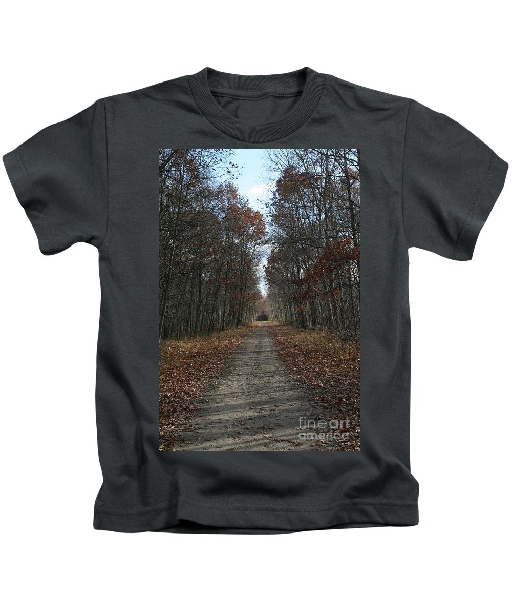 Landscape Kids T-Shirt featuring the photograph Narrow Path On Recovery Road by Neal Eslinger