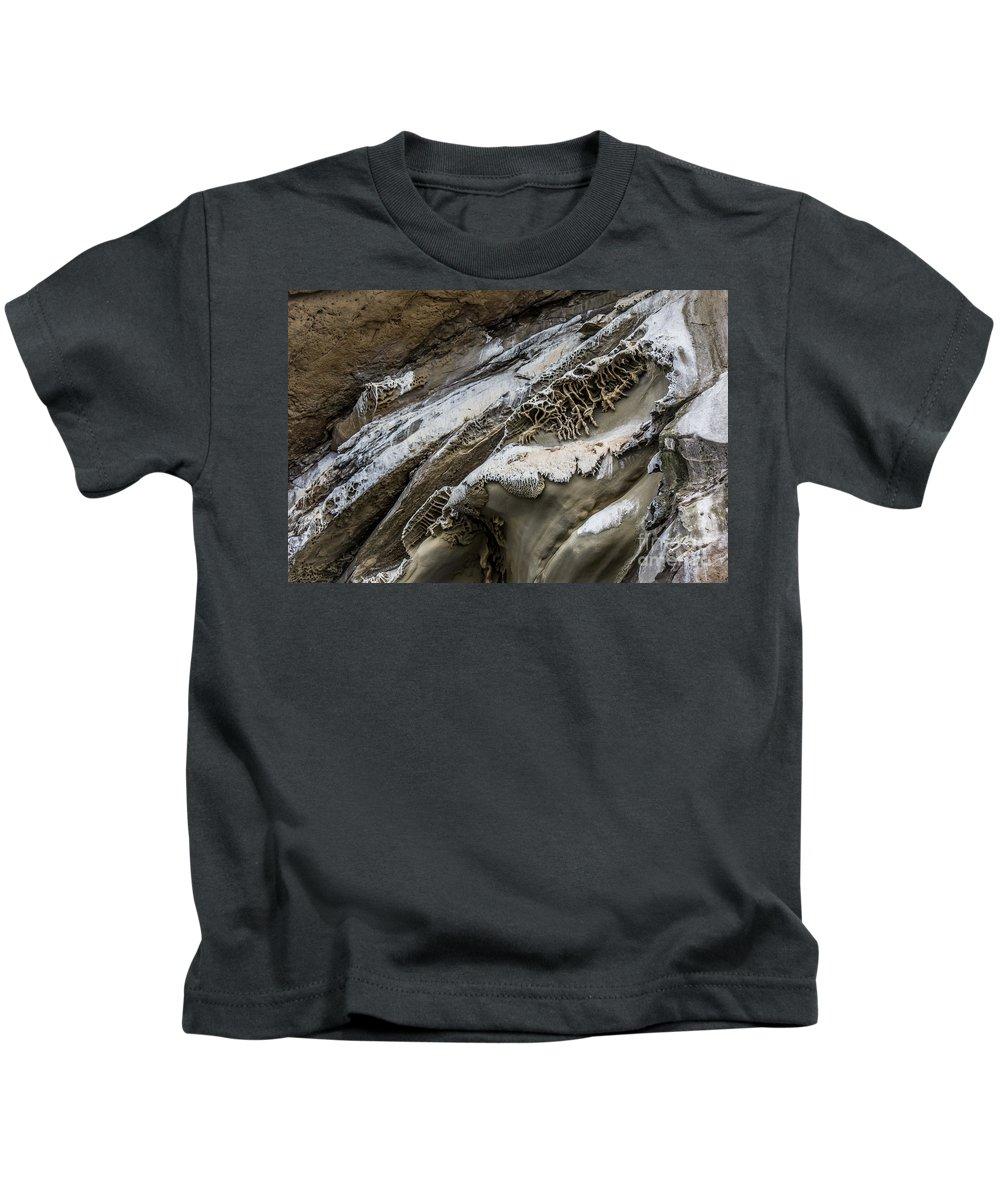 Natural Art Kids T-Shirt featuring the photograph Natural Rock Art by Alanna DPhoto