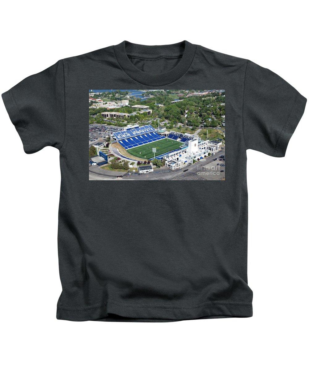 Marine Corps Kids T-Shirt featuring the photograph Navy Marine Corps Memorial Stadium by Bill Cobb