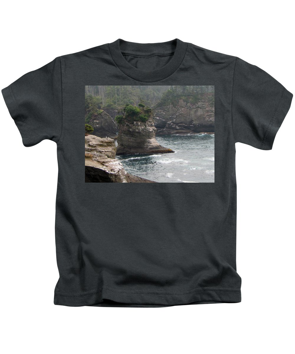 Cape Flattery Kids T-Shirt featuring the photograph Neah Bay At Cape Flattery II by Tikvah's Hope