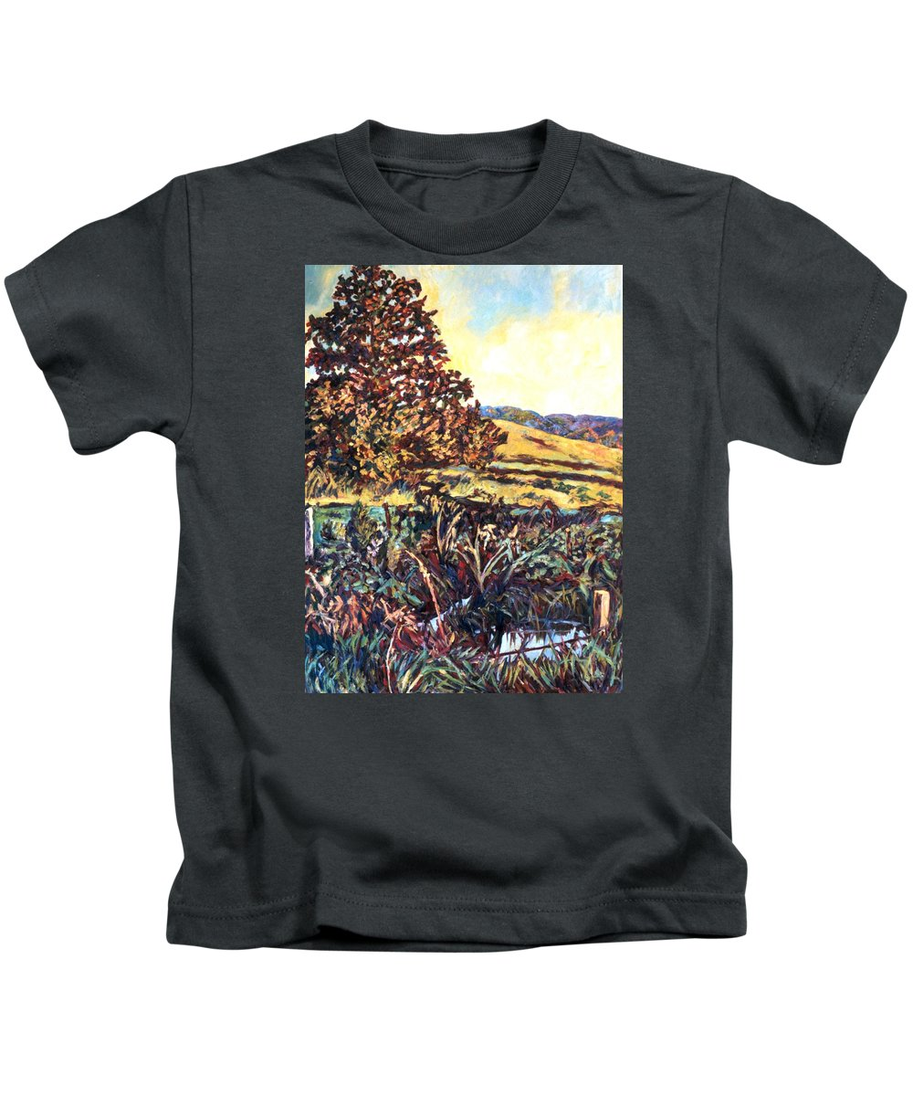 Landscape Kids T-Shirt featuring the painting Near Childress by Kendall Kessler
