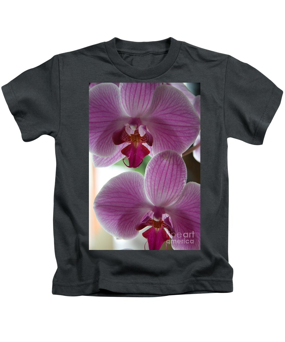 Orchid Kids T-Shirt featuring the photograph Neat Faces by Christiane Schulze Art And Photography