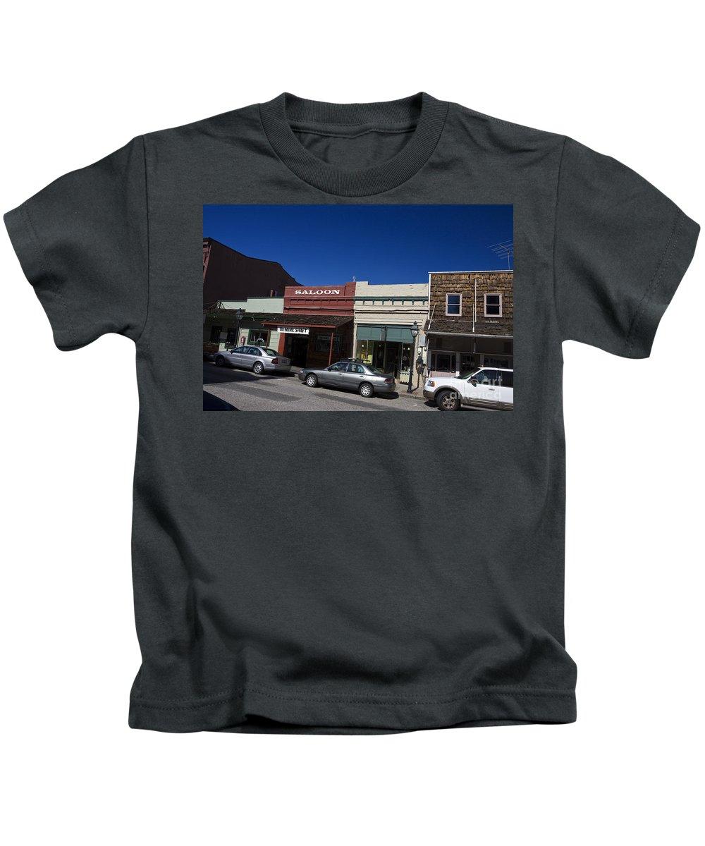 Travel Kids T-Shirt featuring the photograph Nevada City California by Jason O Watson