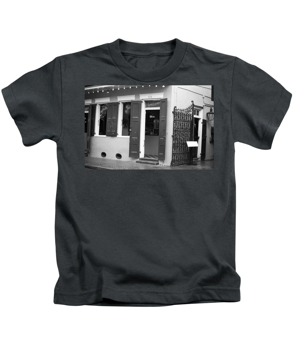 America Kids T-Shirt featuring the photograph New Orleans - Bourbon Street 17 by Frank Romeo