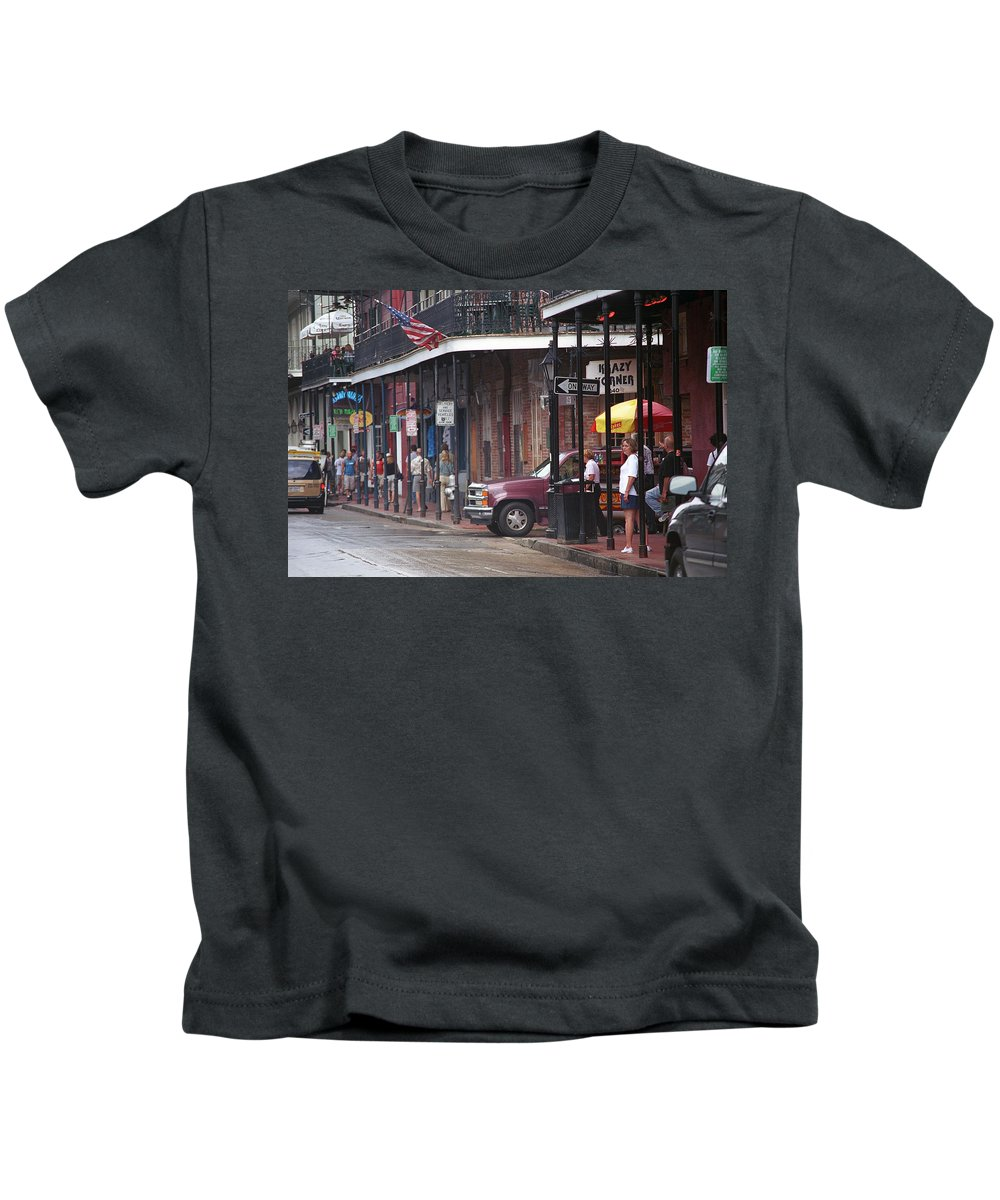 America Kids T-Shirt featuring the photograph New Orleans Street Scene by Frank Romeo