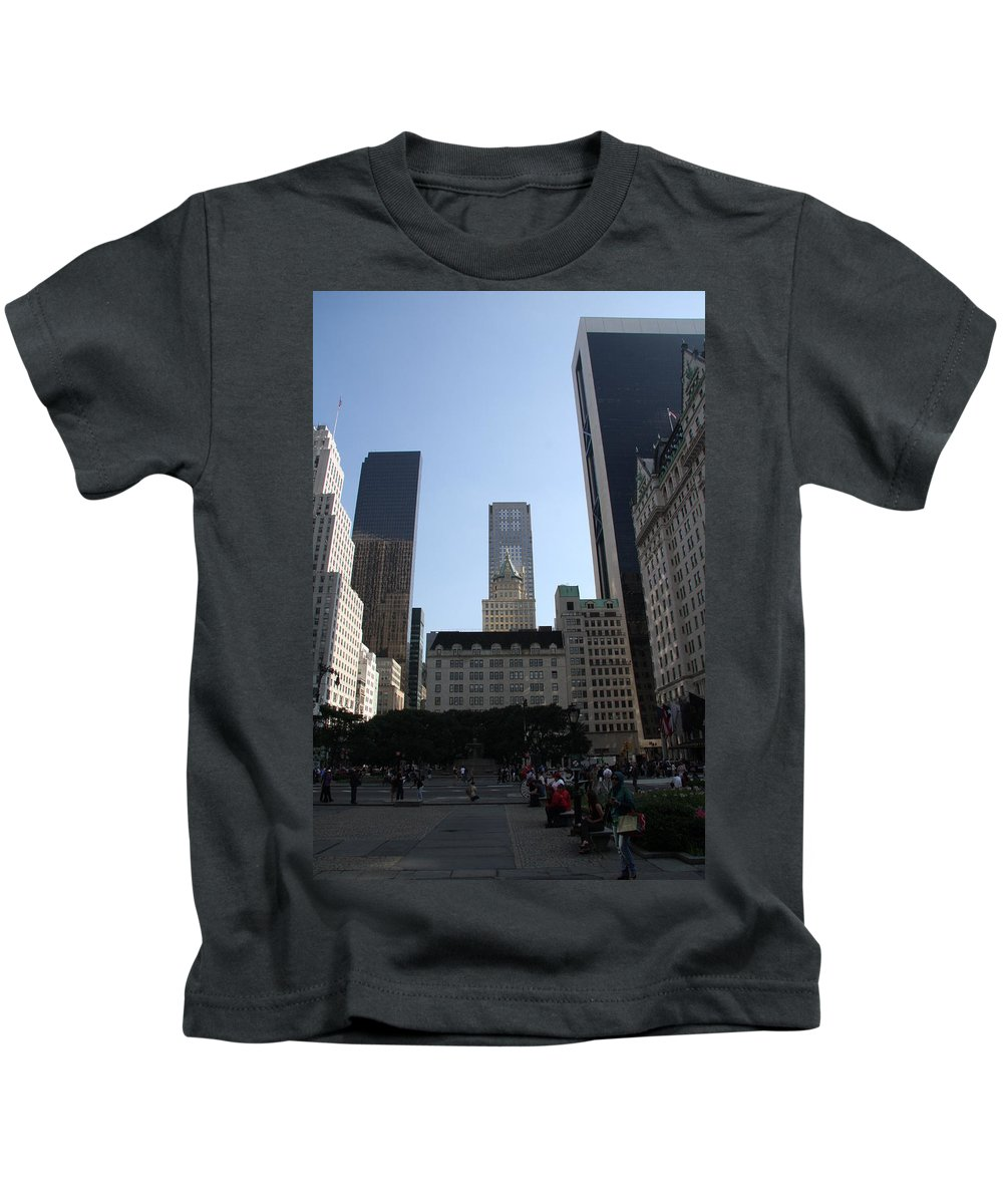 Place Kids T-Shirt featuring the photograph New York City by Christiane Schulze Art And Photography