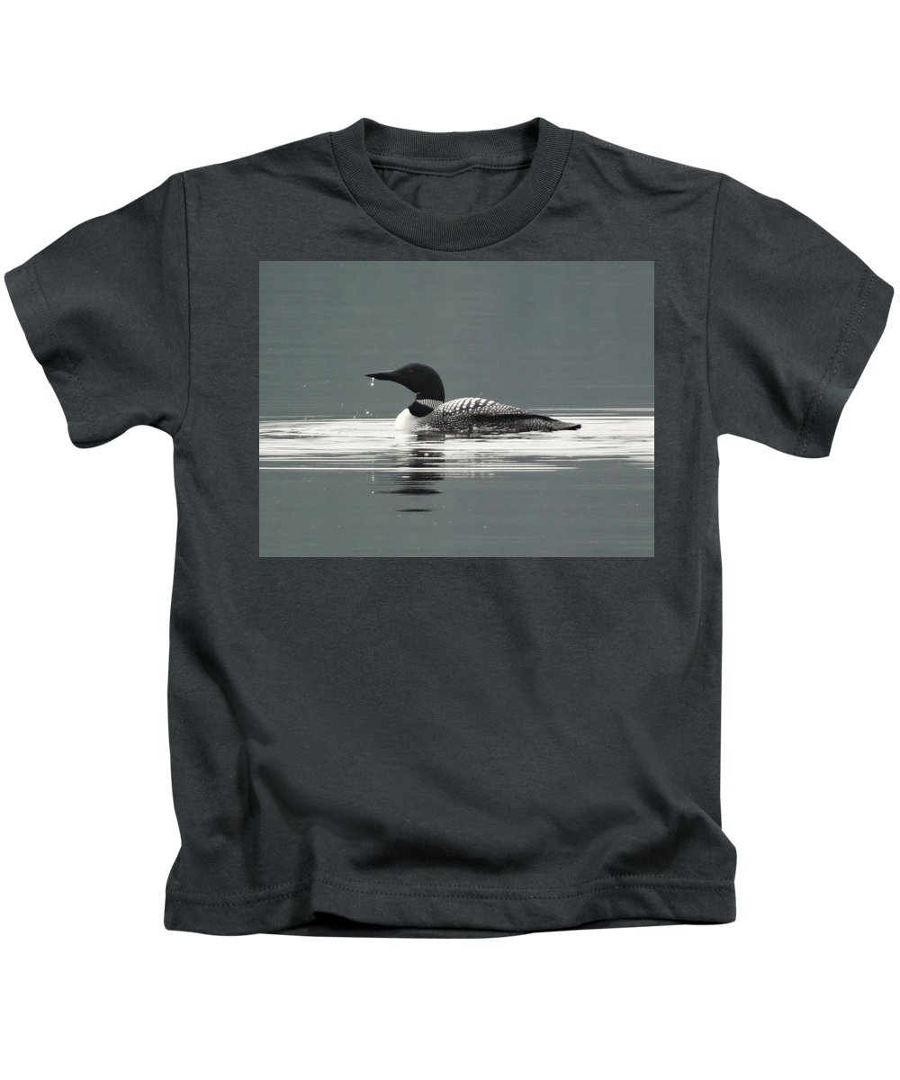 Loon Kids T-Shirt featuring the photograph Nh Loon by Mary Vinagro