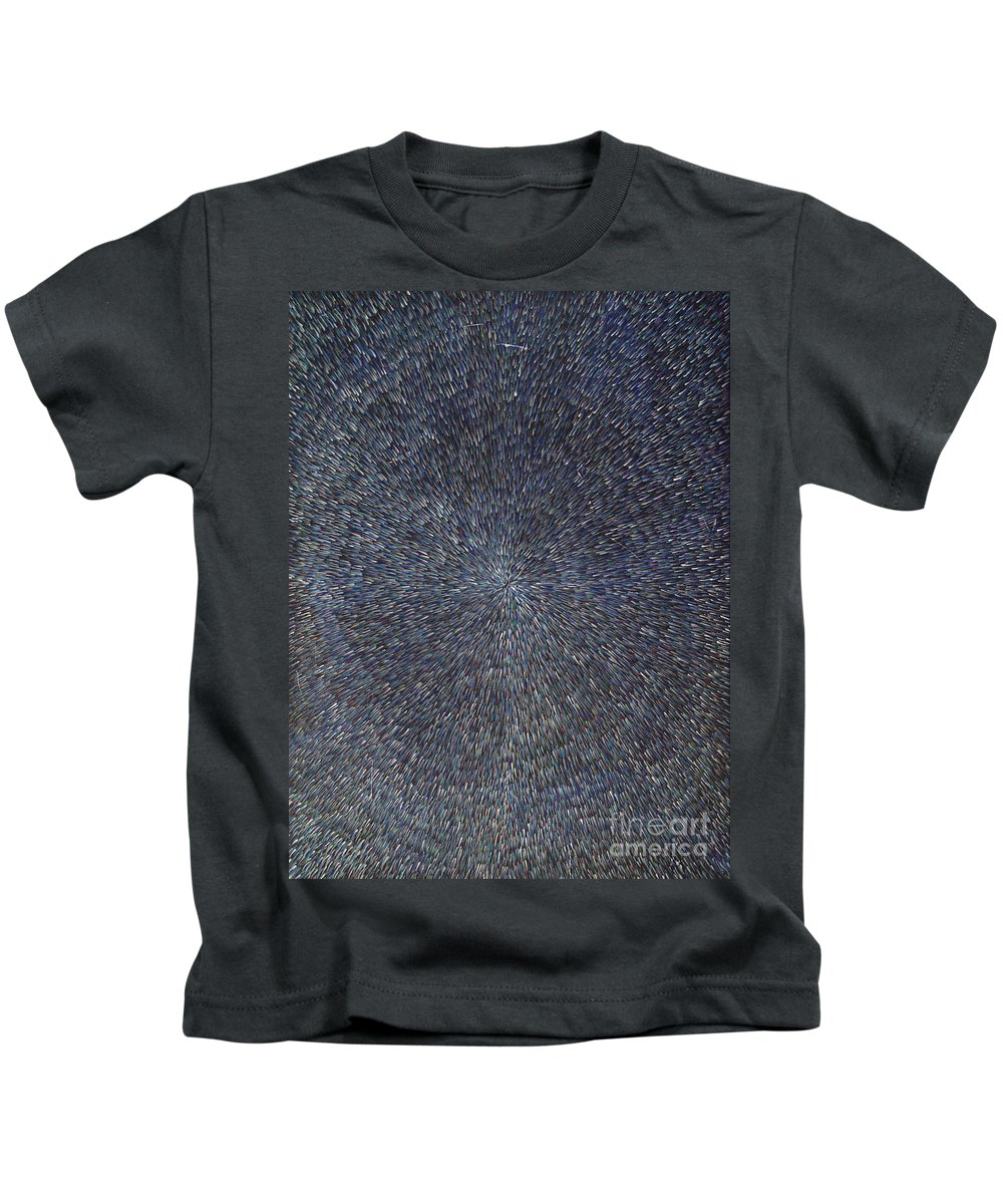 Abstract Kids T-Shirt featuring the painting Night Radiation by Dean Triolo