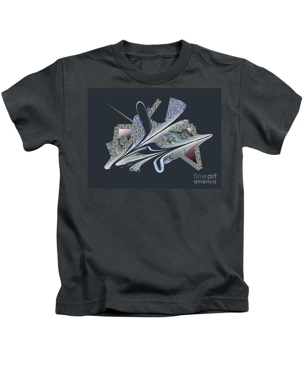 Kids T-Shirt featuring the digital art No. 1071 by John Grieder