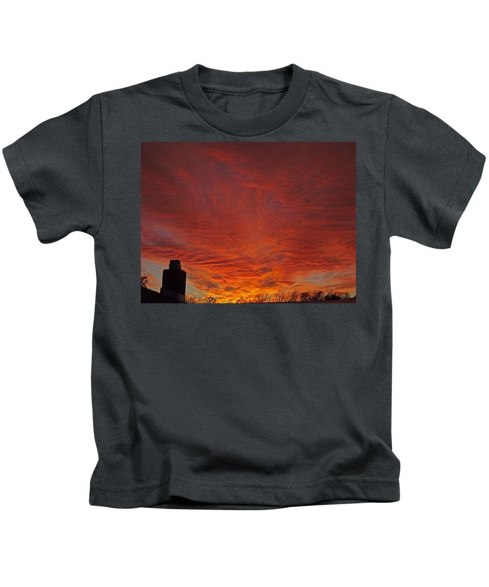 Cloud Kids T-Shirt featuring the photograph November Brightness by Greg Boutz