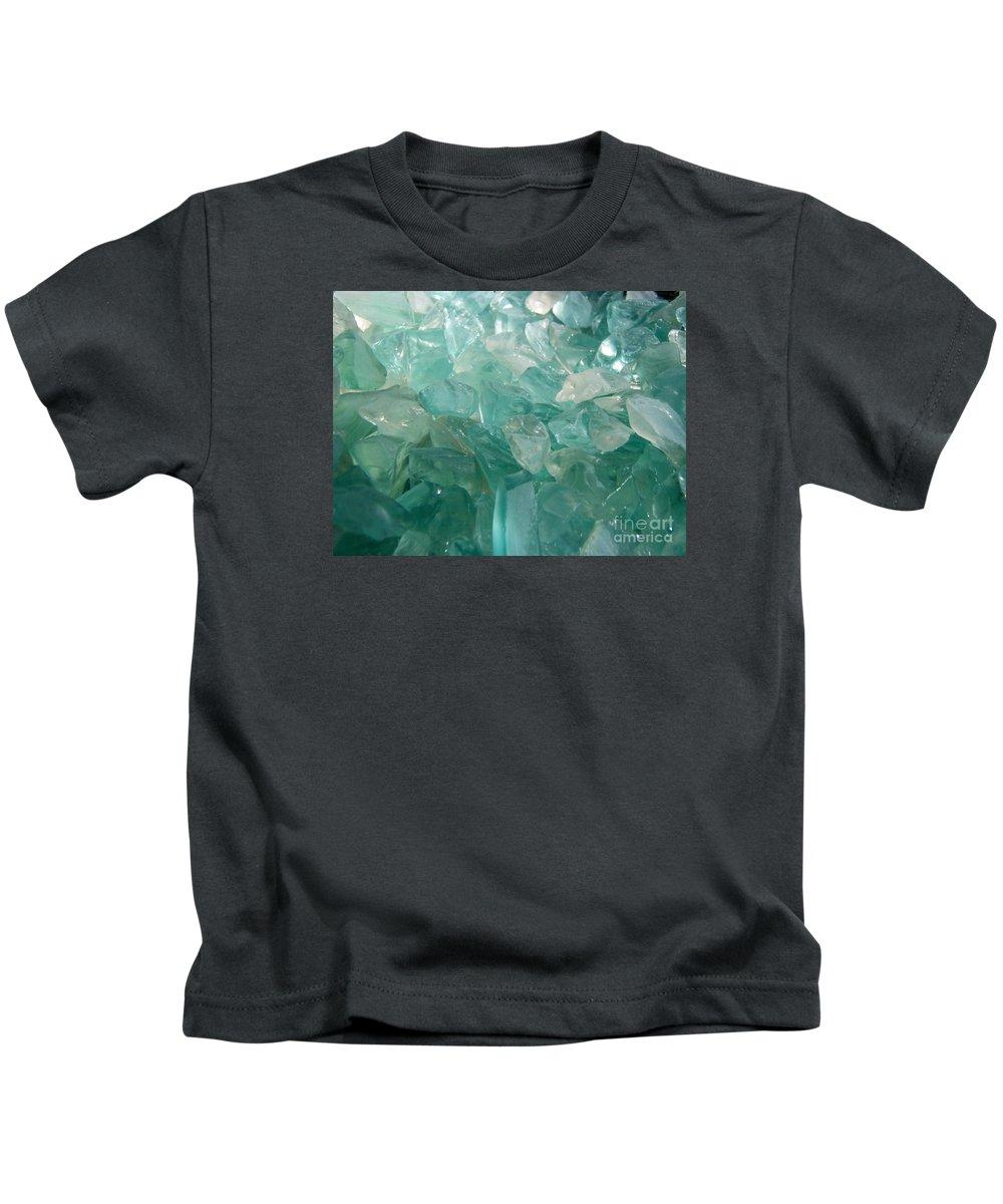 Ocean Sea Glass Teal Light Kids T-Shirt featuring the photograph Ocean Dream by Kristine Nora