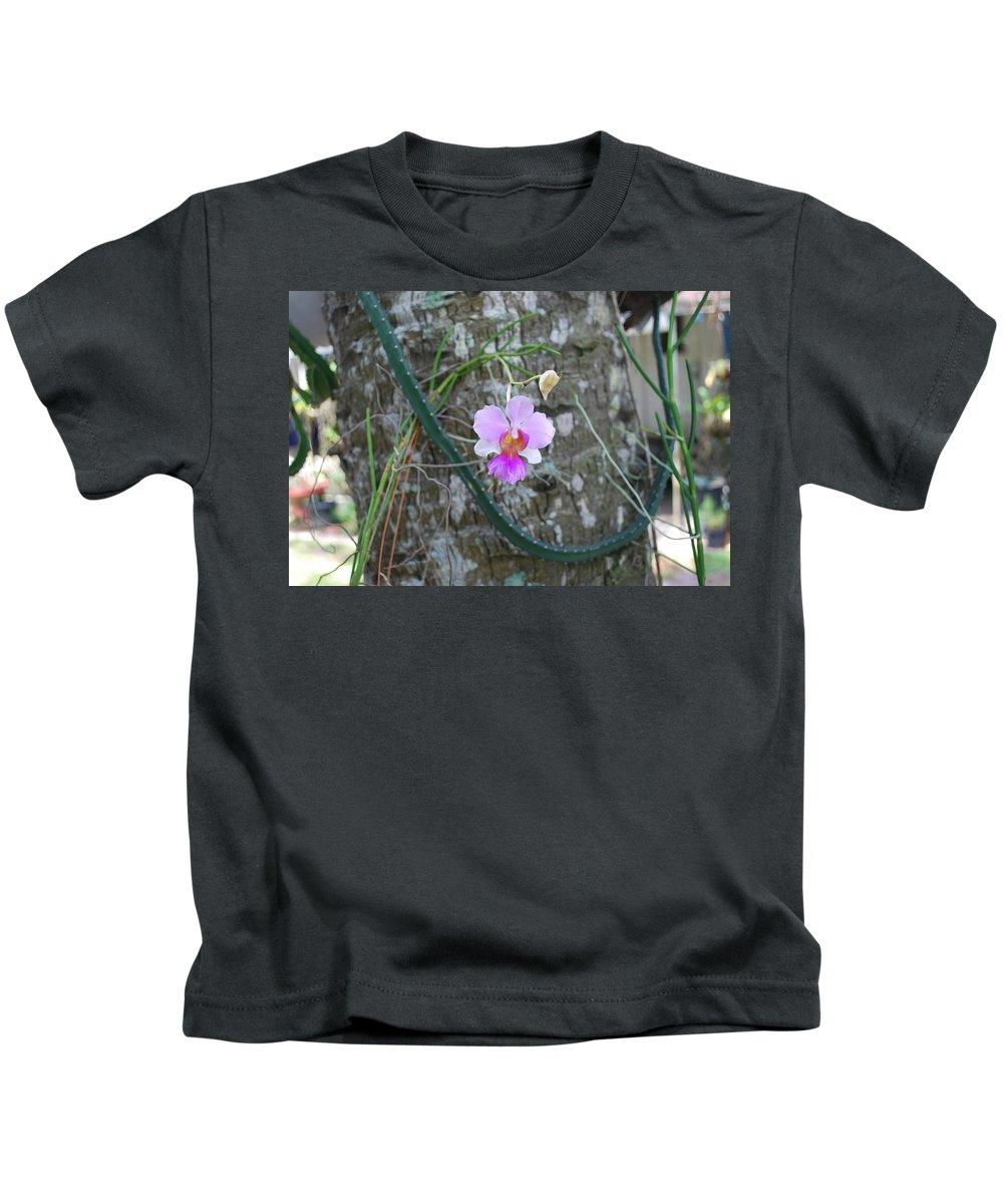 Rare Kids T-Shirt featuring the photograph Ochid by Robert Floyd