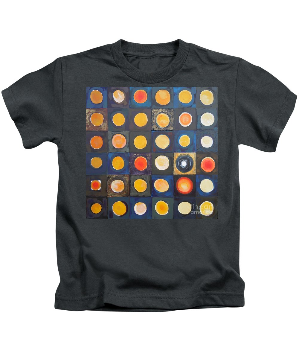 Abstract Kids T-Shirt featuring the painting Odd Ball by Tonya Henderson