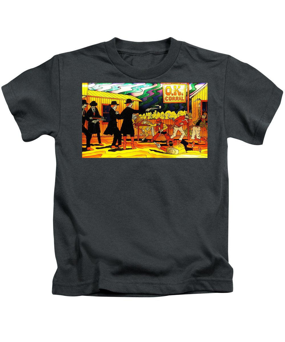 Watercolor Kids T-Shirt featuring the photograph O.k. Corral by Natalie Ortiz