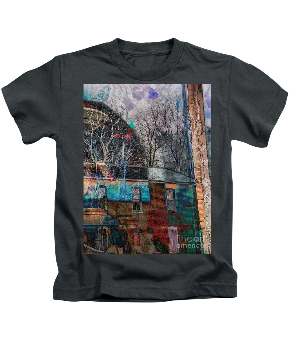 Composite Kids T-Shirt featuring the photograph Old Bleach And Dye Works Right by Jay Ressler