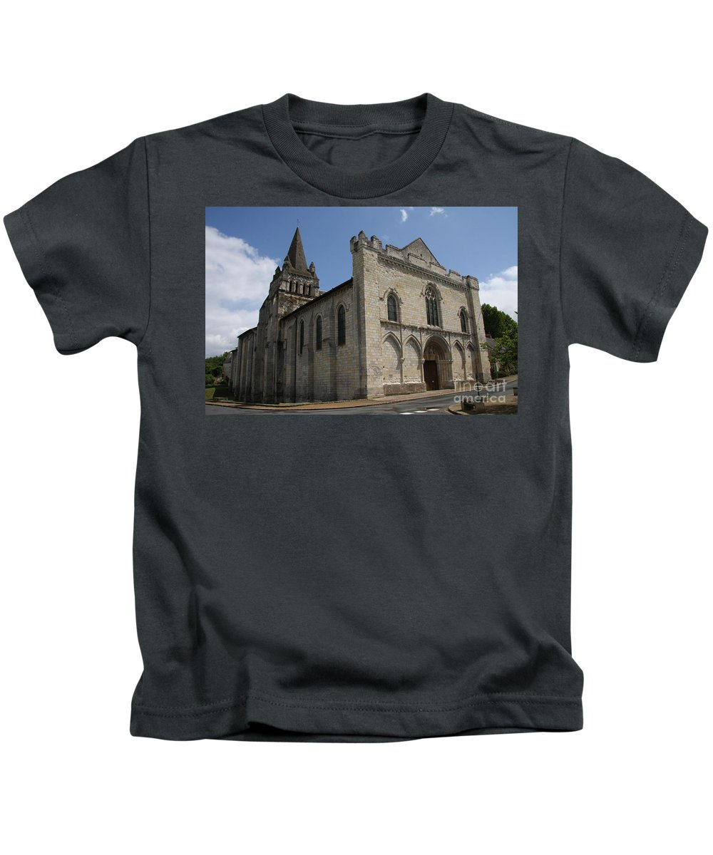 Church Kids T-Shirt featuring the photograph Old Church - Loire - France by Christiane Schulze Art And Photography