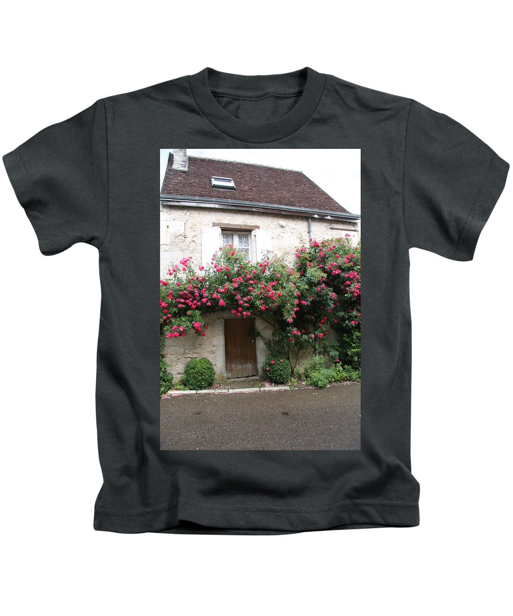 Rose Kids T-Shirt featuring the photograph Old House Covered With Roses by Christiane Schulze Art And Photography