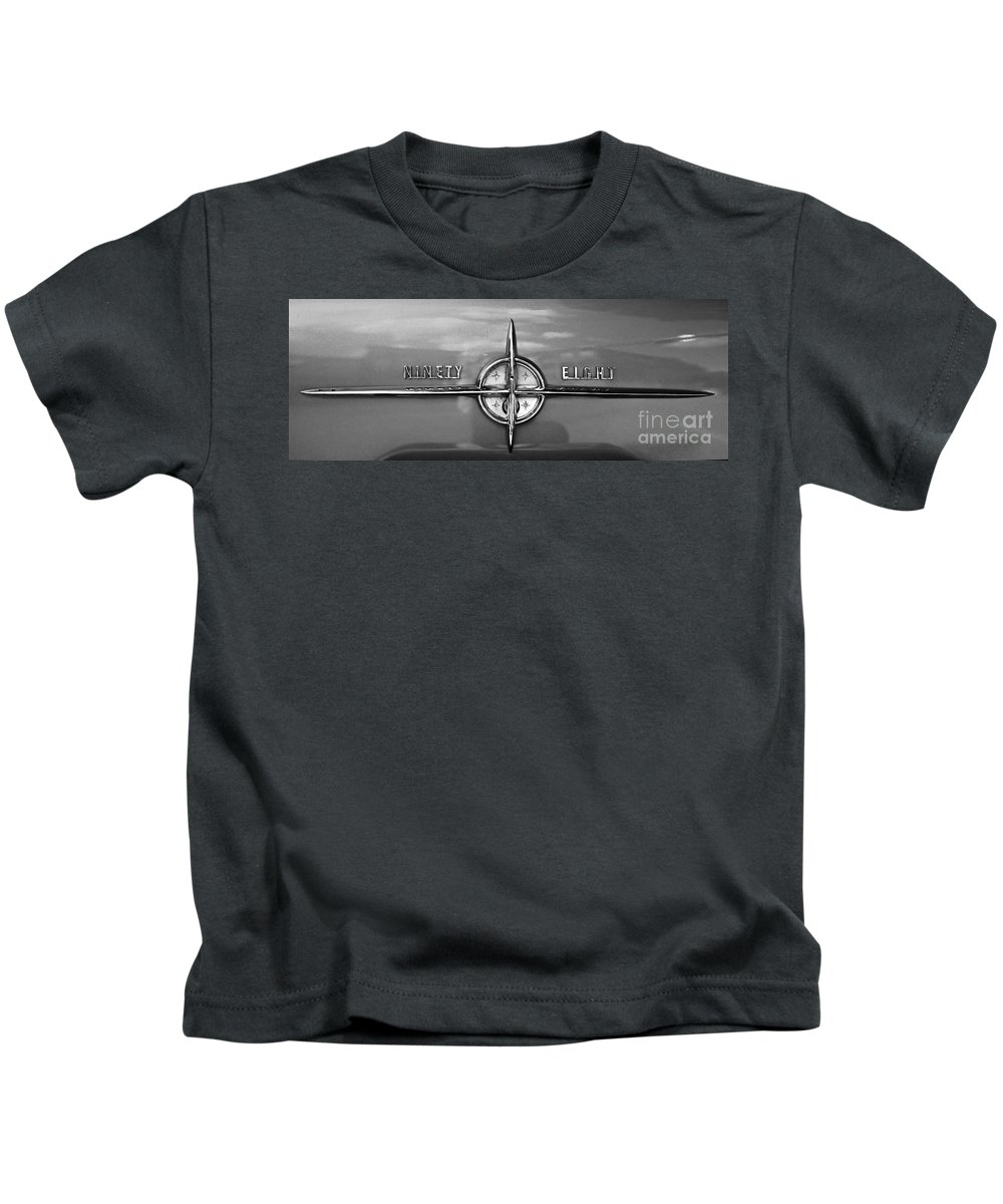 Car Kids T-Shirt featuring the photograph Olds 98 by Linda Bianic